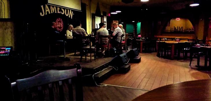 Musicians playing Irish music